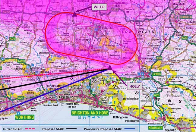 NATS proposed airspace change for Gatwick