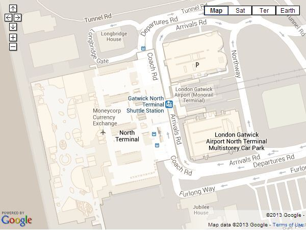 meet and greet parking at gatwick airport north terminal map