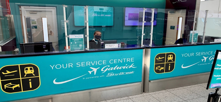 Located in North Terminal Zone D, South Terminal Zone J, Your Service Centre Gatwick, in partnership with Skybreak, offers a range of services to help you at the airport and beyond.