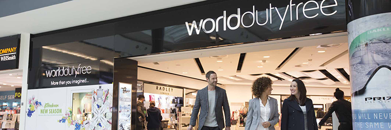 people leaving world duty free at gatwick